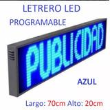 Letrero Led Anuncio Publicidad Programable Display 4 Colores