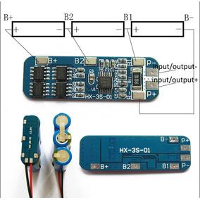 Proteção 3s Bms Para 3x Baterias 18650 Li-ion 5a
