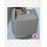 Caja Cajita Feliz Picni Cupcake Cotillon Empaque Carton