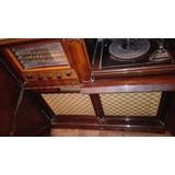 Tocadisco -combinado Musical, Madera Lustrada. Impecable.