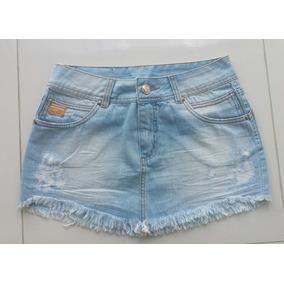Mini Saia Jeans Desfiada Sem Laycra Lindo Modelo Tamanho 36