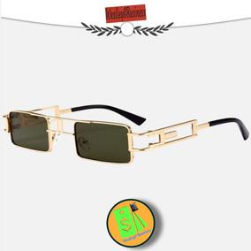 Óculos De Sol Unissex Moldura Metal Lentes Verdes Oc21 d7fdf966f1