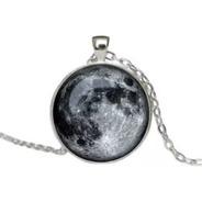 10 Pz Mayoreo Collar Luna Llena Brilla Oscuridad Buen Fin