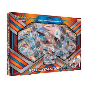 Box Pokémon Lycanroc Gx - Carta Gigante + Pokémon Gx