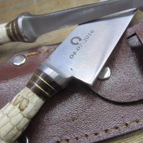 Cuchillo Criollo Artesanal Grabado Laser