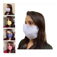 Máscara Kit 100 Unidades Individual Tecido Duplo Lavável