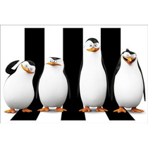 Painel Decorativo Festa Infantil Pinguins Madagascar (mod3)