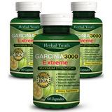 Pure Garcinia Cambogia Extreme 3000 95%hca Quemador De Grasa