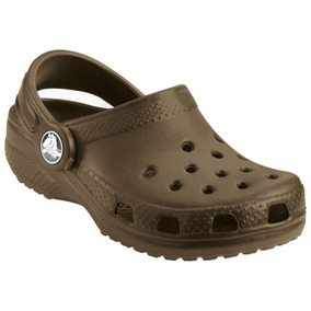 Sandália Crocs Classic Kids Infantil Chocolate 100% Original
