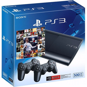 Playstation 3 140 Juegos Ps3 500gb 2/joysticks Nueva .fifa18