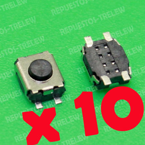 Boton X 10 Unidades 3x4x2 Mm - Modelo 11 - Pulsador 4 Pines
