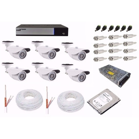 Kit Cftv Dvr Full Hd 1080p Luxvision 8 Ch 6 Câmera Ahd 1.3mp