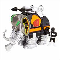Imaginext - Power Rangers Ranger Preto E Zord Mastodonte