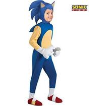 Disfraz Para Niño Traje De Sonic Lujo Para Los Muchachos