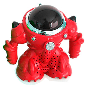 Velikka Bocina Robot Usb Radio Fm Micro Sd Pila St-40 Rojo