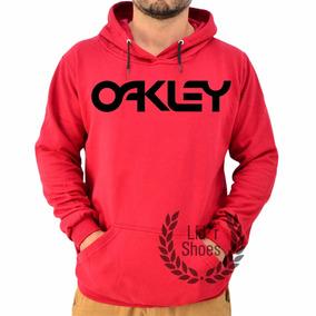 Moletom Preto - Moletom Oakley Masculinas Vermelho no Mercado Livre ... adc955eb60