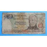 Billete De 50 Pesos Argentinos Serie A Circulado