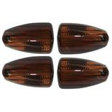 Lente Pisca Nx4 Falcon Ambar Escuro 4 Peças Serjão Motos