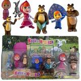 Masha Y El Oso Set 7 Figuras Muñecos En Caja Excelentes