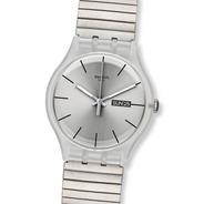 Reloj Swatch Malla Elastizada Plateado Suok700