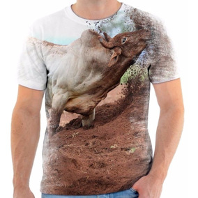 Camisa Camiseta Blusa Animal Rodeio Peão Touro Agressivo
