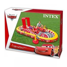 Piscina Inflável Intex Cars 636l Acessórios E Bomba Carros