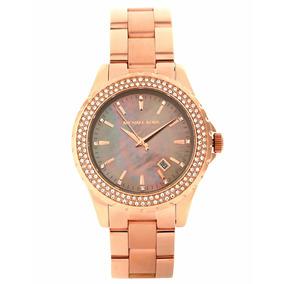 50e08d4f828 Relógio Luxo Michael Kors Mk5453 Orig Chron Anal Ouro Rose!! R  3.000