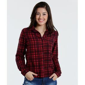 Camisa Juvenil Xadrez Manga Longa + Short