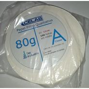 Papel Filtro Qualitativo - 80g Diametro De 11cm 100 Fl Celab