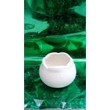 Vasija Mediana Flor Baja De Bizcocho Ceramico