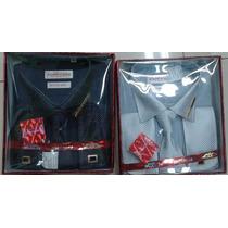 Kit Camisa Social Abotoadura,gravata,prendedor Igreja Pastor