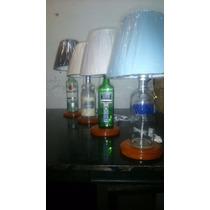 Lampara Artesanal Con Botellas De Alcohol Recicladas