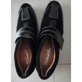 Zapatillas De Mujer Gamuza Y Charol N° 40- Nuevas!