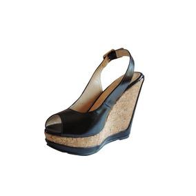 Plataforma Sandalia Andrea Negro Zapato Mujer Nuevo