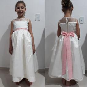 Vestido Infantil Festa Para Daminha Honra 4/5