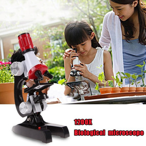 Microscópio Escolar Acadêmico Aumento 100 A 1200x + Kit