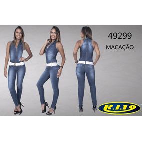 Macacão Jeans Ri19 Ref.49299
