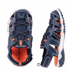 Sandalha Infantil Carters Azul/laranja Original Usa