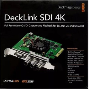 Placa De Capitura Blackmagic Design Decklink Sdi Capture 4k