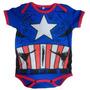 Body Mameluco Niños Bebé Capitán América Avengers Nighty