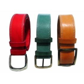 Cinturones, Cinto Cuero 100%, Eliges Hebilla, Color, Medida