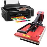Kit De Maquinas Para Estampar Camisetas E Impressora