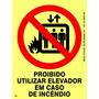 Placa Proibido Utilizar Elevador 20x15cm Fotoluminesc Npt 20