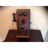 Antiguo Teléfono De Madera Stromberg - Carlson