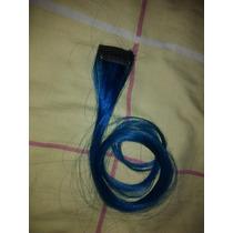 Mechon De Cabello Natural Azul Turquesa 22 Pulgadas