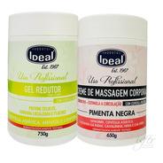 Ideal Creme De Massagem Corporal Pimenta Negra + Gel Redutor