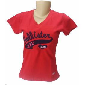 Camiseta Kit C/ 06 Feminina Hollister Blusinhas Frete Gratis