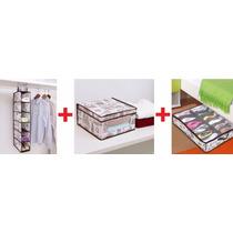 Combo 3 Organizadores Diseño 6 Niveles + Zapatero + Caja