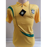 Camisa Polo Brasil Amarela Passeio Copa 2018