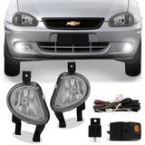 Kit Faros Auxiliar Neblina Corsa Hatch Sedan + Lampara Led